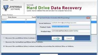 SysTools Hard Drive Data Recovery-key