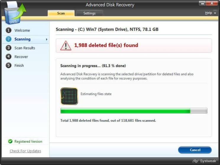 Systweak Advanced Disk Recovery -serial key
